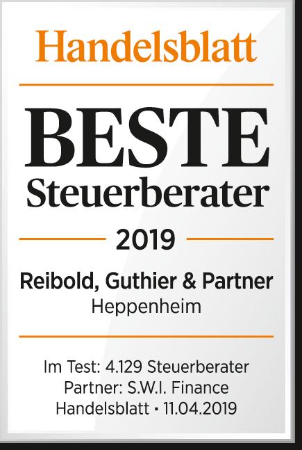 Handelsblatt Beste Steuerberater 2019